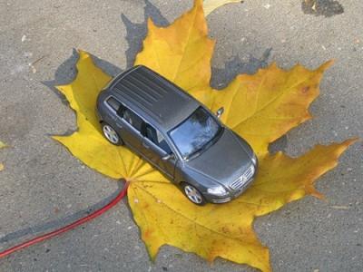 вождение авто осенью